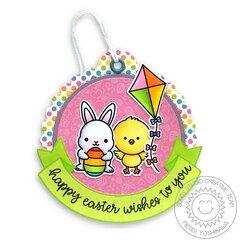 Sunny Studio Chickie Baby Easter Tag by Mendi Yoshikawa