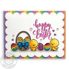 Sunny Studio Chickie Baby Easter Card by Mendi Yoshikawa