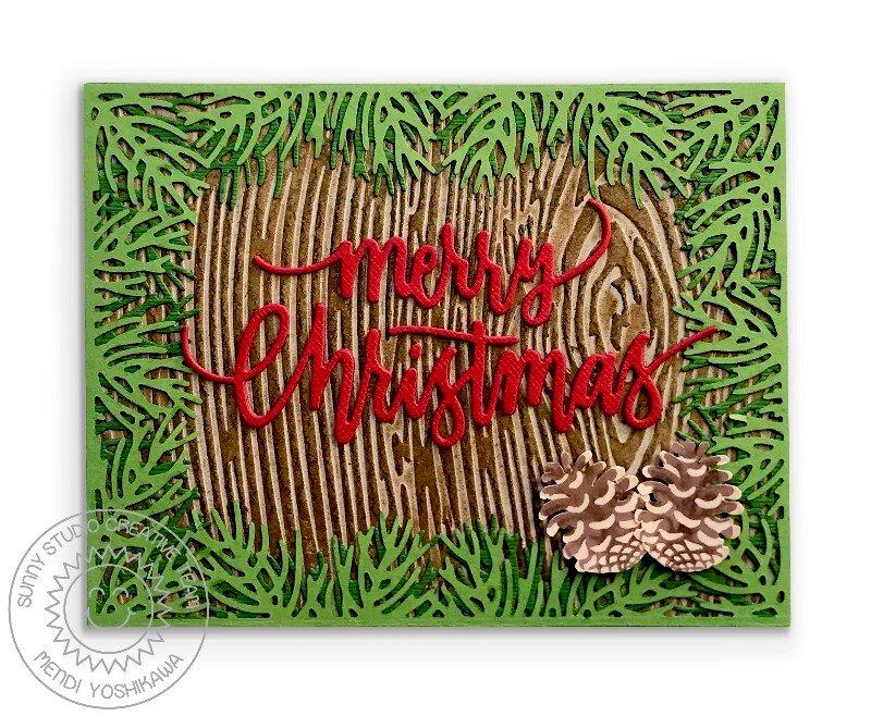 Sunny Studio Stamps Holiday Christmas Card by Mendi Yoshikawa