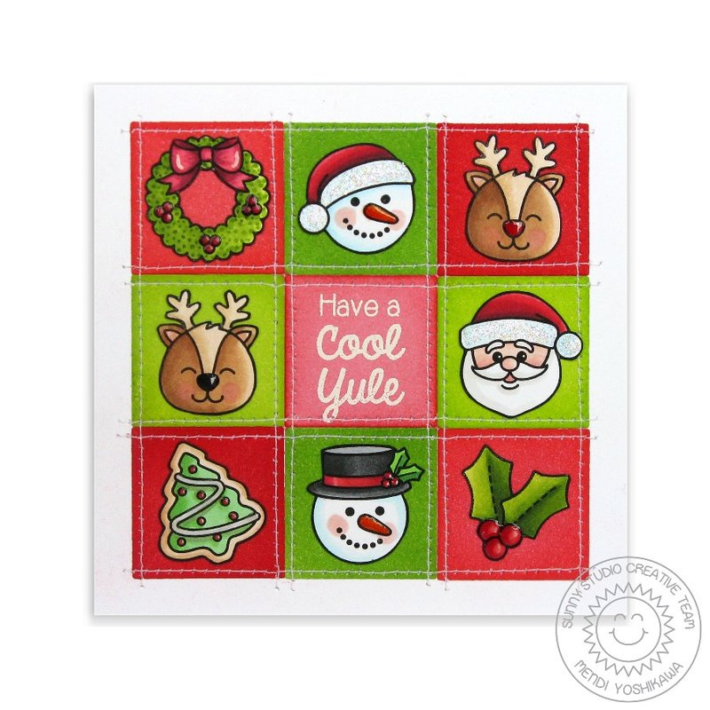 Christmas Icons Grid Style Christmas Card by Mendi