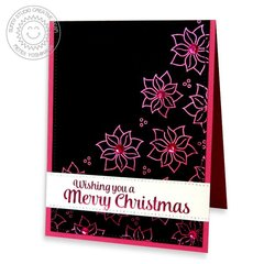 Christmas Icons Poinsettia Christmas Card by Mendi
