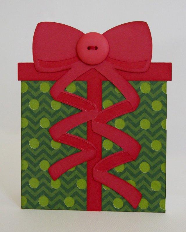 A Christmas Present Shaped Card by Mendi Yoshikawa