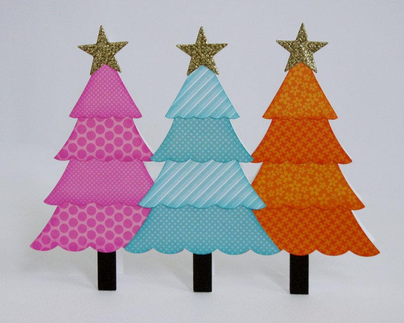 A Doodlebug Christmas Tree Card by Mendi Yoshikawa