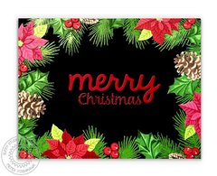 Sunny Studio Stamps Christmas Trimmings Holiday Card by Mendi Yoshikawa