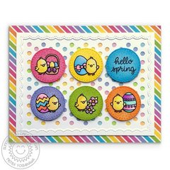 Sunny Studio Stamps Chubby Bunny Easter Card by Mendi Yoshikawa