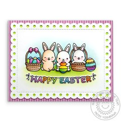 Sunny Studio Stamps Chubby Bunny Easter Card by Mendi Yoshikawa