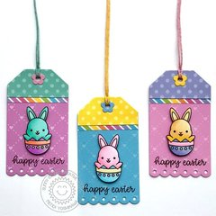 Sunny Studio Stamps Chubby Bunny Easter Tags by Mendi Yoshikawa