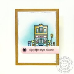 Sunny Studio Stamps City Streets Card by Mendi Yoshikawa