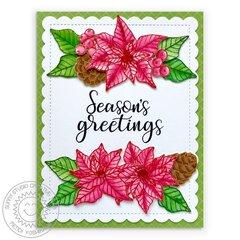 Sunny Studio Classy Christmas Card by Mendi Yoshikawa