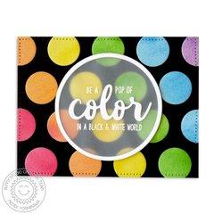 Sunny Studio Pop of Color Polka-dot Card by Mendi Yoshikawa