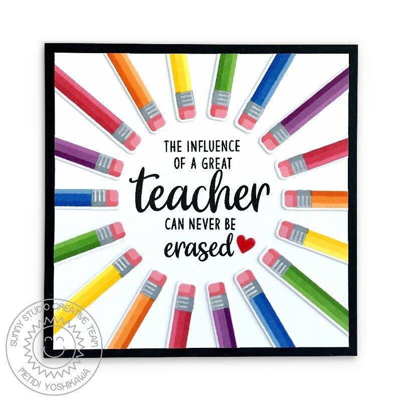Sunny Studio Color My World Teacher Cards by Mendi Yoshikawa