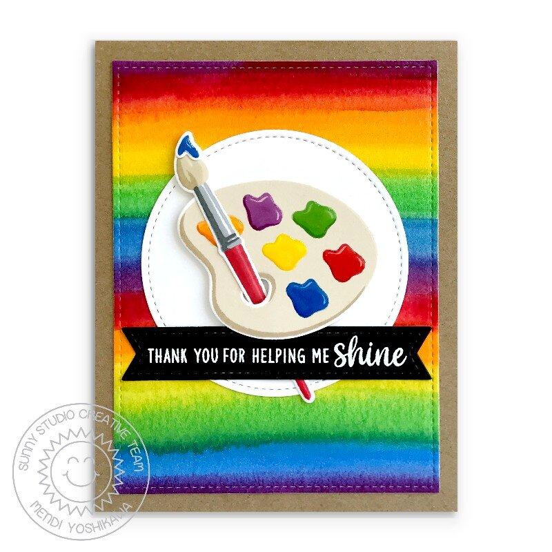 Sunny Studio Color My World Card by Mendi Yoshikawa