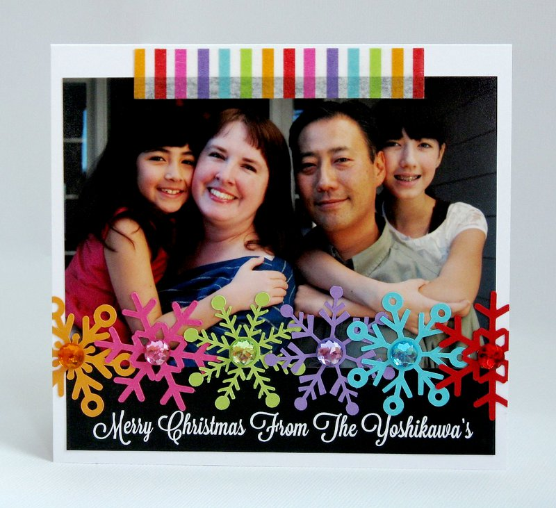 A Handmade Holiday Photo Card by Mendi Yoshikawa