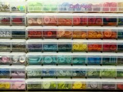 Mendi Yoshikawa's Craft Studio Scrapbook Room- Buttons