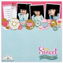 Doodlebug Cream & Sugar Scrapbook Layout by Mendi Yoshikawa