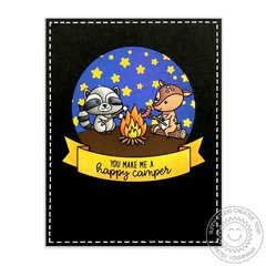 Sunny Studio Stamps Critter Campout card by Mendi Yoshikawa
