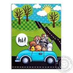 Sunny Studio Stamps Cruising Critters Card by Mendi Yoshikawa