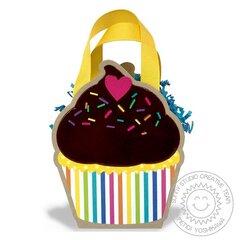 Sunny Studio Cupcake Shape Gift Bag by Mendi Yoshikawa