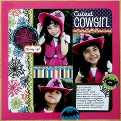 American Crafts Boo Halloween Layout by Mendi Yoshikawa