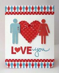 A Doodlebug Day To Day Love Card by Mendi Yoshikawa