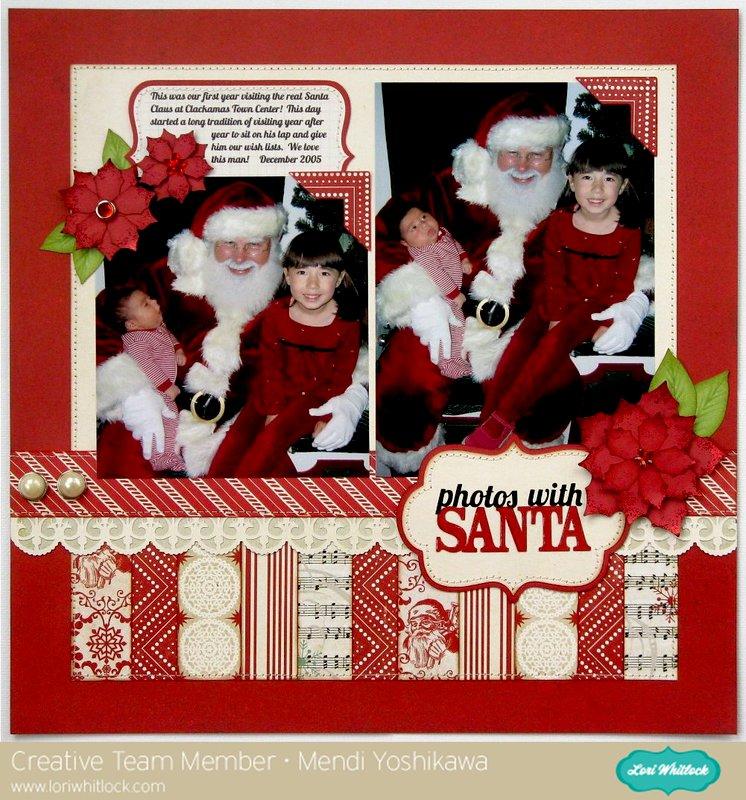 Echo Park Christmas Reflections layout by Mendi Yoshikawa