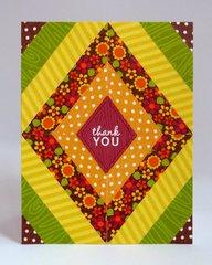 A Doodlebug Fall Thank You Card by Mendi Yoshikawa