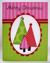 A Doodlebug Christmas Tree Card by Mendi Yoshikawa