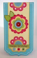 Doodlebug Flower Box Card by Mendi Yoshikawa