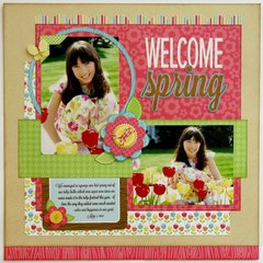 Doodlebug Flower Box Tulip Layout by Mendi Yoshikawa