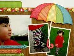 Doodlebug Flower Box Rainy Day Layout by Mendi Yoshikawa