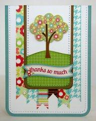 Doodlebug Flower Box Thank You Card by Mendi Yoshikawa