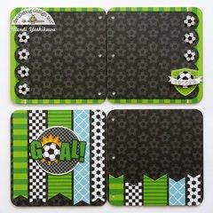 Doodlebug Goal! Soccer Mini Album by Mendi Yoshikawa