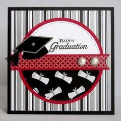 Doodlebug Cap & Gown Graduation Card by Mendi Yoshikawa