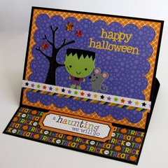 Doodlebug Ghouls & Goodies Easel Card by Mendi Yoshikawa
