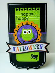 Doodlebug Haunted Manor Halloween Card by Mendi Yoshikawa