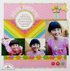 A Doodlebug Hello Sunshine Layout by Mendi Yoshikawa