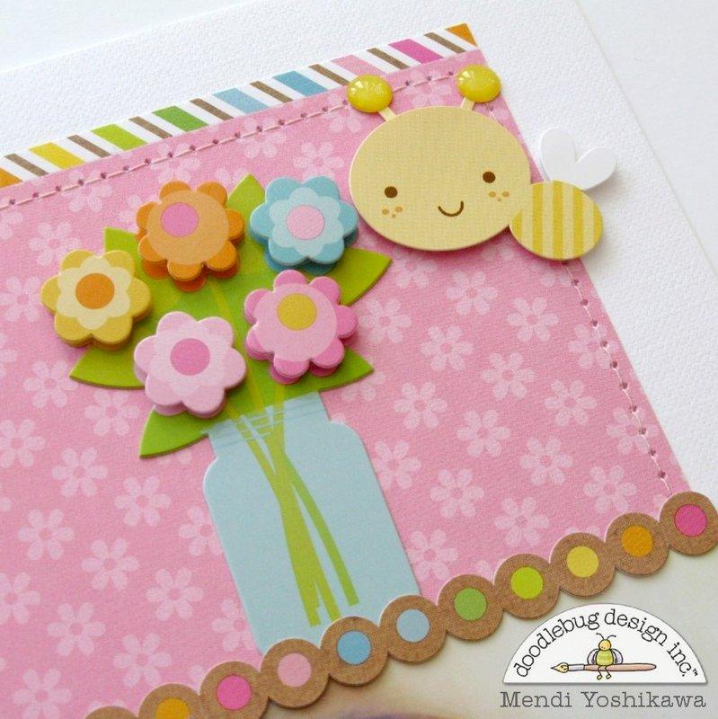 A Doodlebug Hello Sunshine Layout by Mendi Yoshikawa