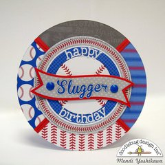 Doodlebug Home Run Baseball Themed Cards by Mendi Yoshikawa