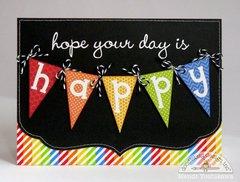 A Doodlebug Kraft In Color Happy Card by Mendi Yoshikawa
