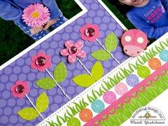 Doodlebug Spring Garden Layout by Mendi Yoshikawa