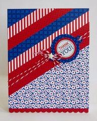 Doodlebug Patriotic Parade Thank You by Mendi Yoshikawa