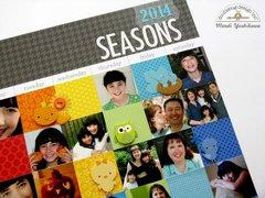 Doodlebug Daily Doodles Seasons Layout by Mendi Yoshikawa