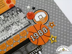 Doodlebug Slam Dunk Basketball Layout by Mendi Yoshikawa