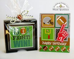Doodlebug Touchdown Card & Gift Set by Mendi Yoshikawa