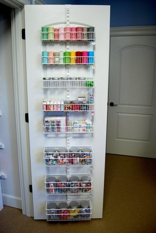 Mendi Yoshikawa's Craft Studio Scrapbook Room- Closet Door