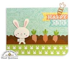 Doodlebug Easter Express Carrot Garden Card by Mendi Yoshikawa
