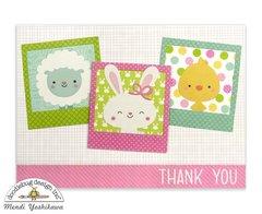 Doodlebug Easter Express Polaroid Card by Mendi Yoshikawa