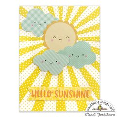 Doodlebug Easter Express Sunshine Card by Mendi Yoshikawa