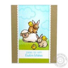 Sunny Studio Easter Wishes Card by Mendi Yoshikawa