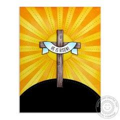 Sunny Studio Easter Wishes Cross Card by Mendi Yoshikawa